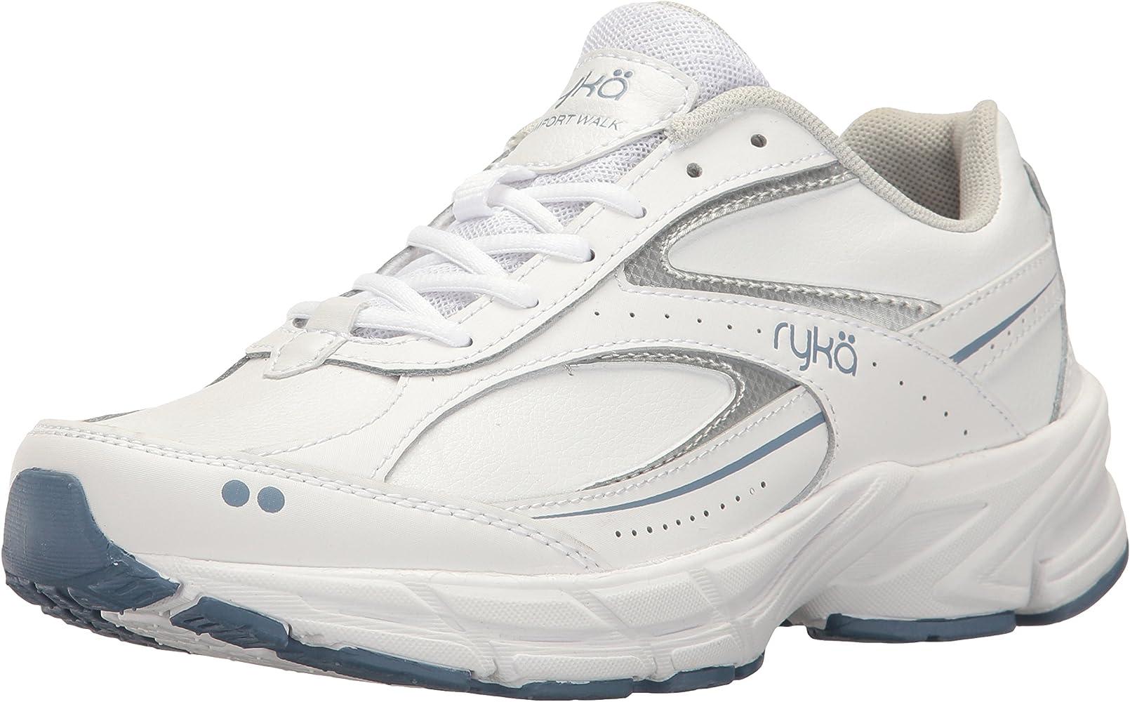 Zapatillas para caminar confort RYKA para mujer, blanco / azul, 8.5 W US: Amazon.es: Zapatos y complementos