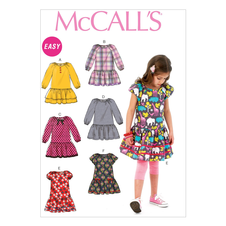 Amazon.com: McCall Pattern Company M6982 Children\'s/Girls\' Dresses ...