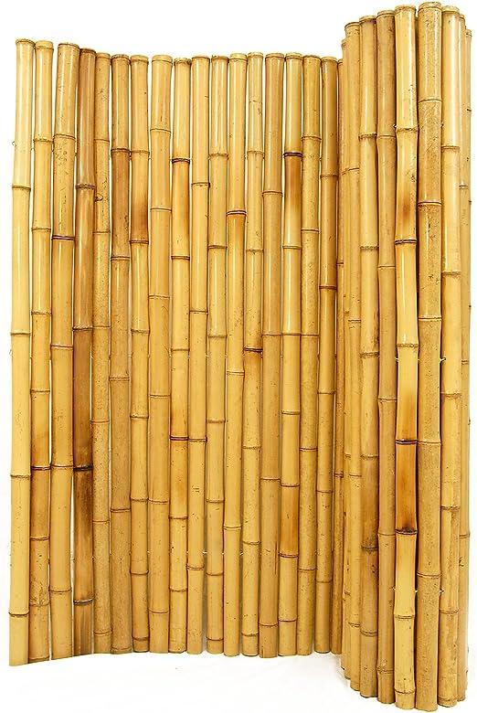 Natural de bambú valla 1