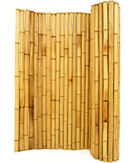 Natural Rolled Bamboo Fencing 3/4 Pictures Gallery