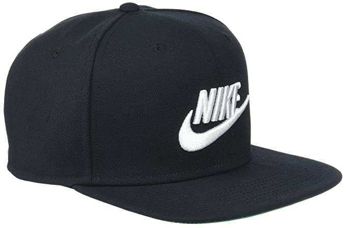 NIKE Mens Pro Futura Snapback Hat Black/Pine Green/White 891284-010,