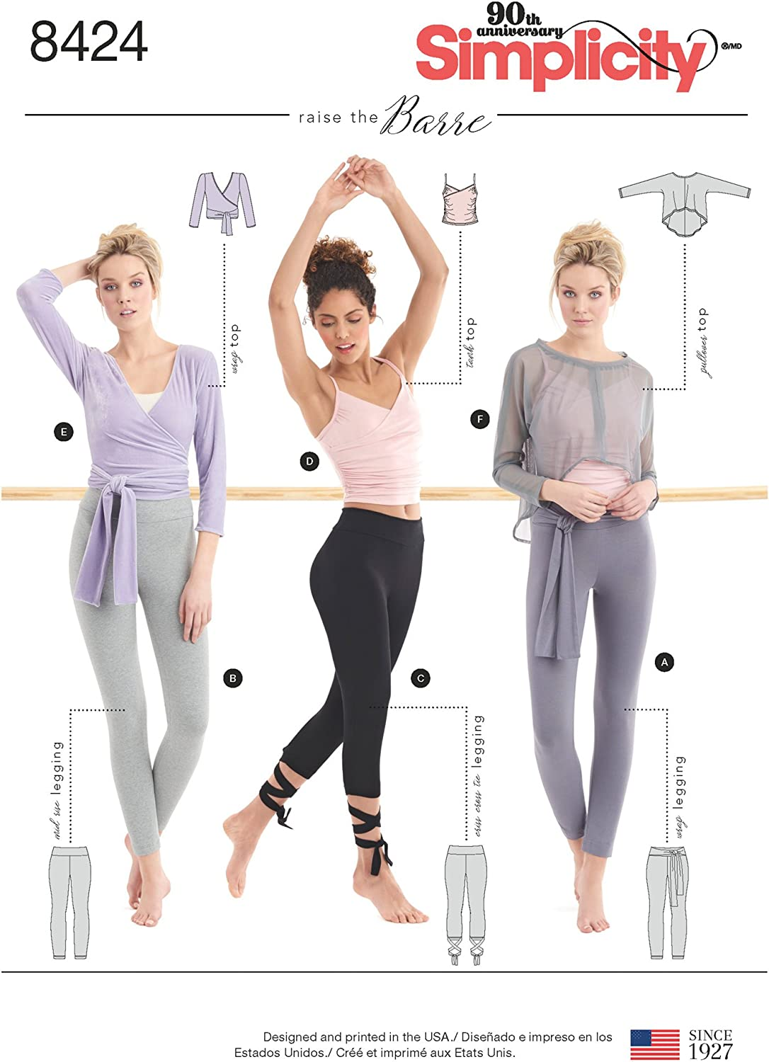Tank Pullover Top Sewing Patterns Wrap Sizes XXS-XXL Simplicity US8424A Womens Leggings