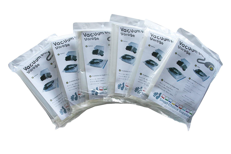VINSANI 6 Pack Vacuum Storage Space Saving Bag 90 X 130cm Extra Large Jumbo Size