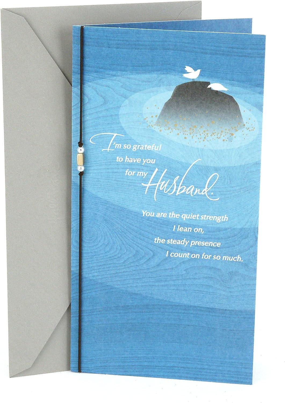 Doves on Rock Hallmark Birthday Card for Husband