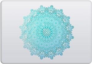 Laptop Stickers MacBook Decal - Removable Vinyl - Mandala Green Mint Decal Skin for Apple MacBook Air Pro 13 15 inch Mac Retina - Best Decorative Sticker by Artsybb