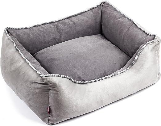 Boutique Zoo – Elegante cama para perros/gris, alcantara/cama para perros para pequeñas/medianas/Perros Grandes | sofá, perros – Cojín para perros | XS, S, M, L, XL, XXL, XXXL: Amazon.es: Productos para mascotas