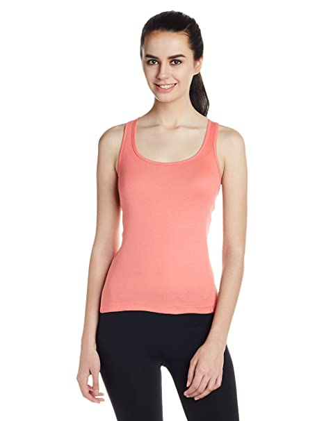 Jockey Women's Cotton Racerback Tank Top Camisoles & Vests at amazon