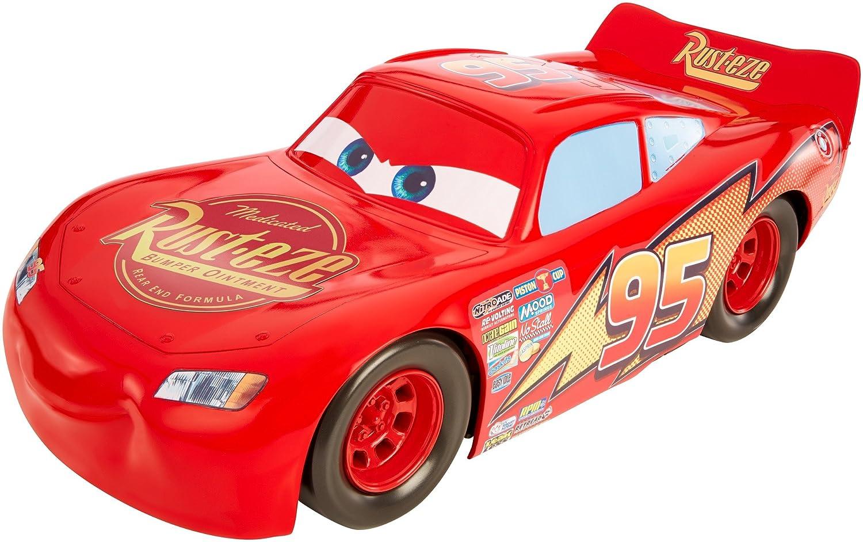 Cars Vehículo Mega Rayo Mcqueen 50cm, Coche de Juguete (Mattel FBN52)