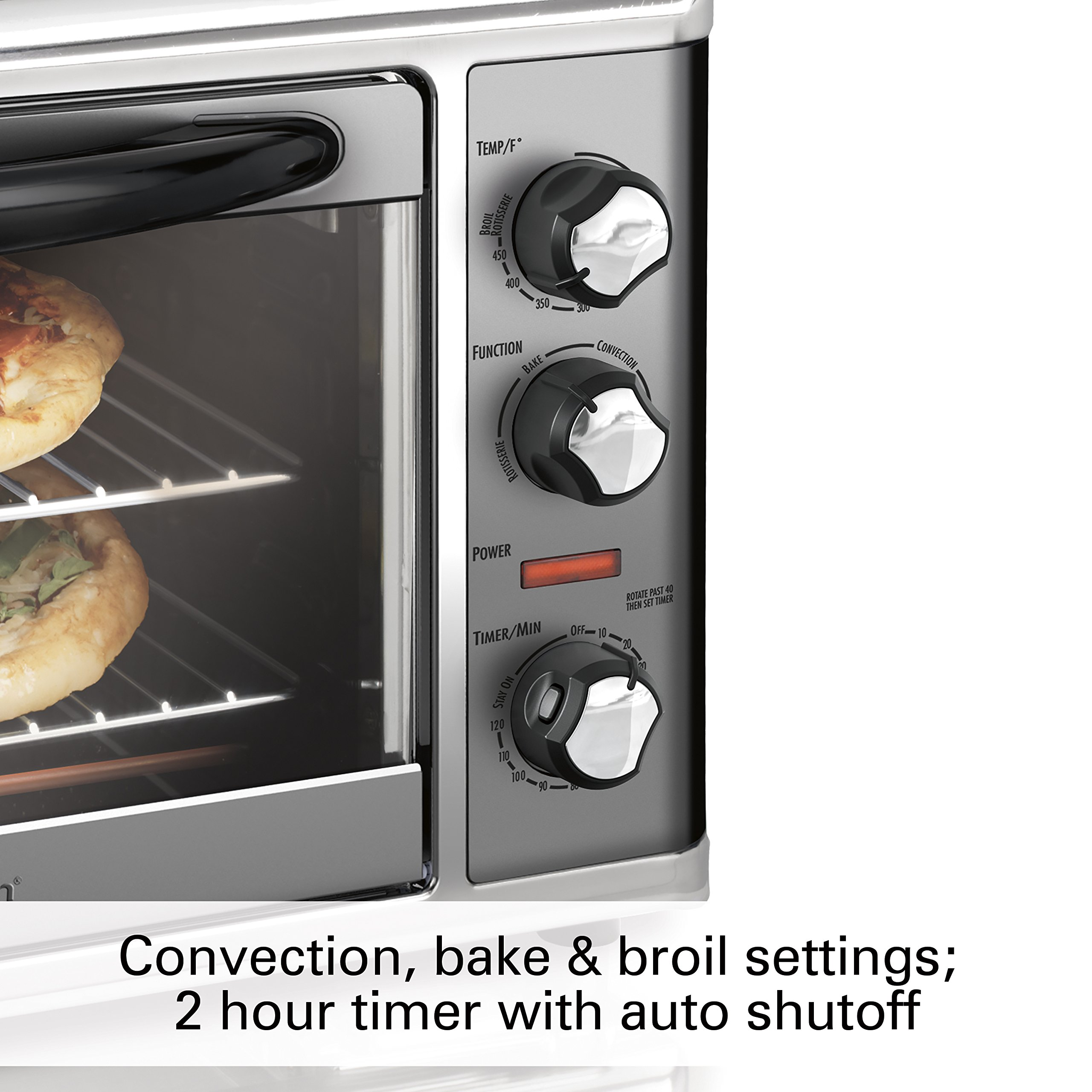Hamilton Beach 31107D Countertop Oven with Convection & Rotisserie, Large, Stainless Steel by Hamilton Beach (Image #3)