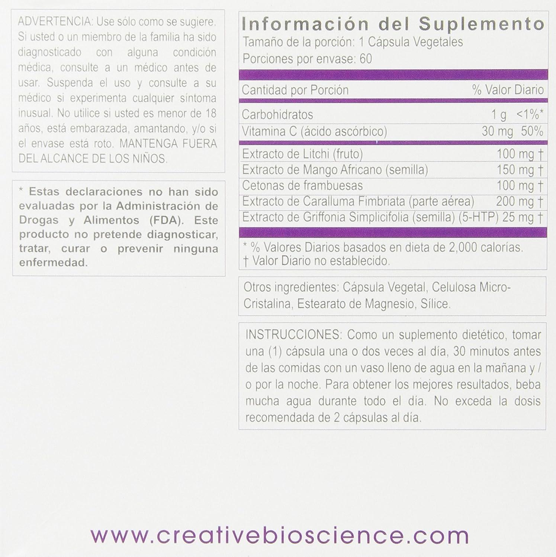 Amazon.com: Creative Bioscience Reduce Raspberry Ketones5-HTP,60 Veggie Capsules: Health & Personal Care
