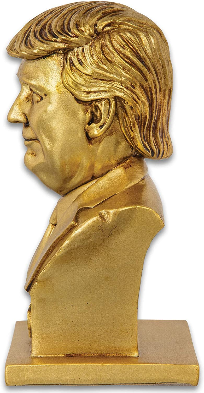 "8/"" Donald Trump God Emperor Statue 45th President Bust Figure POTUS #MAGA# GOLD"