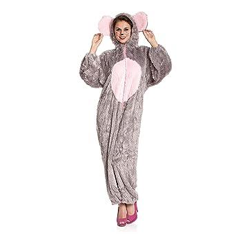 Kostümplanet Maus Kostüm Damen Overall Weich Mäuschen Damen Kostüm
