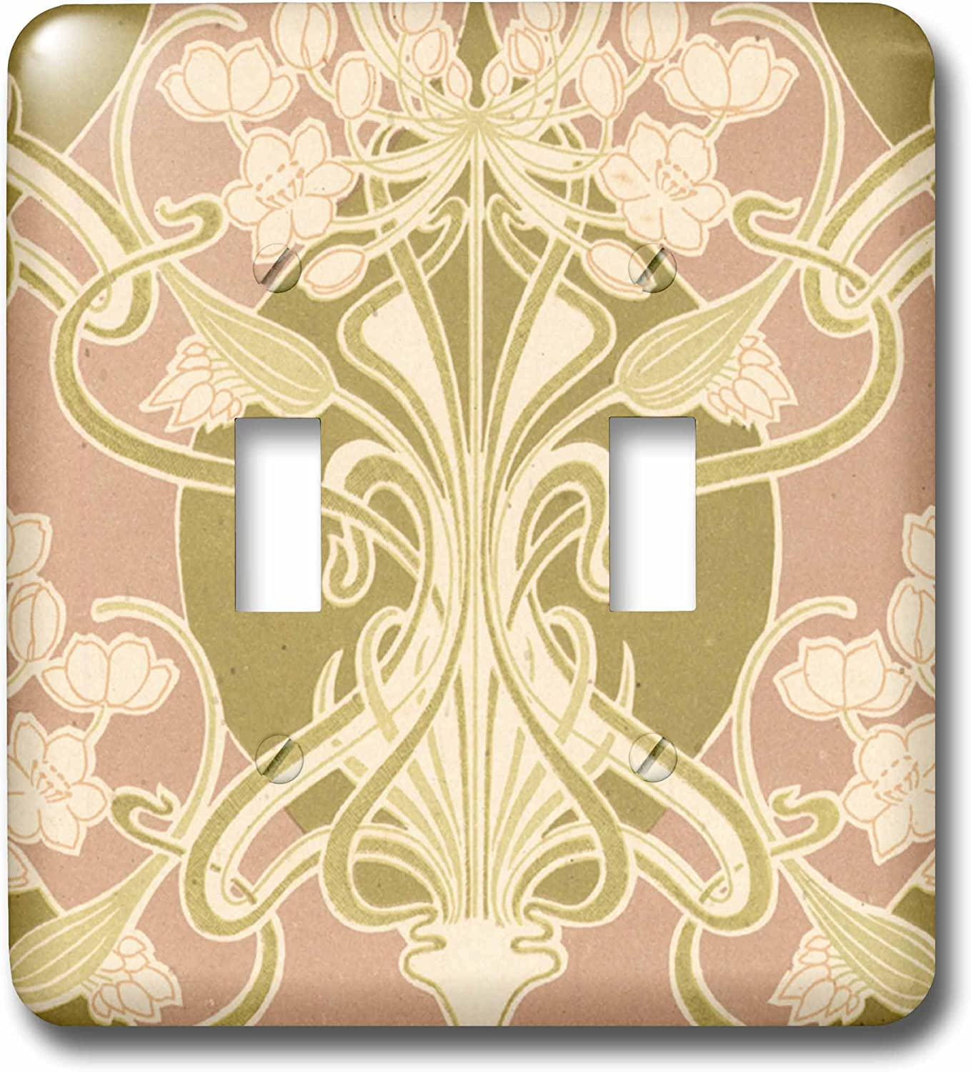3drose Lsp 113450 2 Vintage Art Nouveau Lovely Flowers And Knots Abstract Design Double Toggle Switch Switch Plates Amazon Com