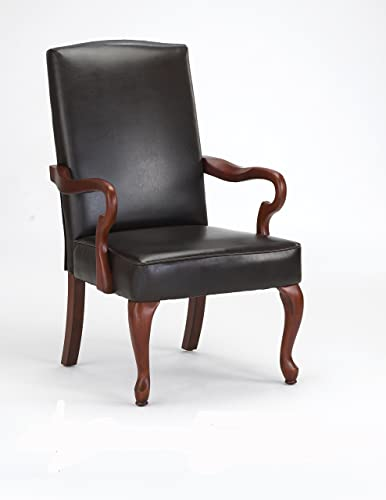 Comfort Pointe Derby High Back Accent Chair in Cherry Finish , Brown
