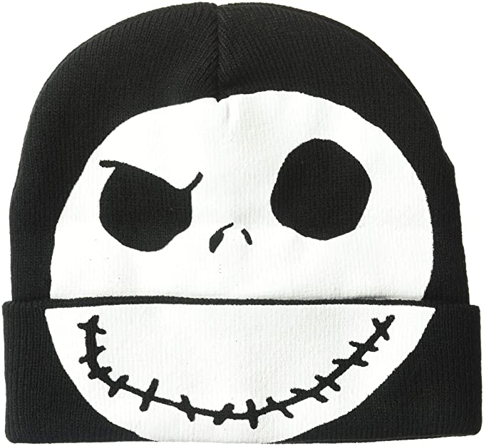 43e11213db2ab Nightmare Before Christmas Jack Skellington Winter Beanie Black  Amazon.ca   Clothing   Accessories