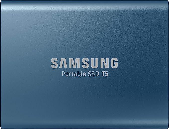 Samsung T5 500GB - Disco Estado Sólido SSD Externo (500 GB, USB), Color Azul (Ocean Blue): Samsung: Amazon.es: Informática