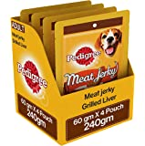 Pedigree Meat Jerky Stix Dog Treats, Grilled Liver, 60 g Pouch (Pack of 4)