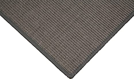 Sisal Teppich umkettelt dunkel braun 250x350cm 100/% Sisal gekettelt