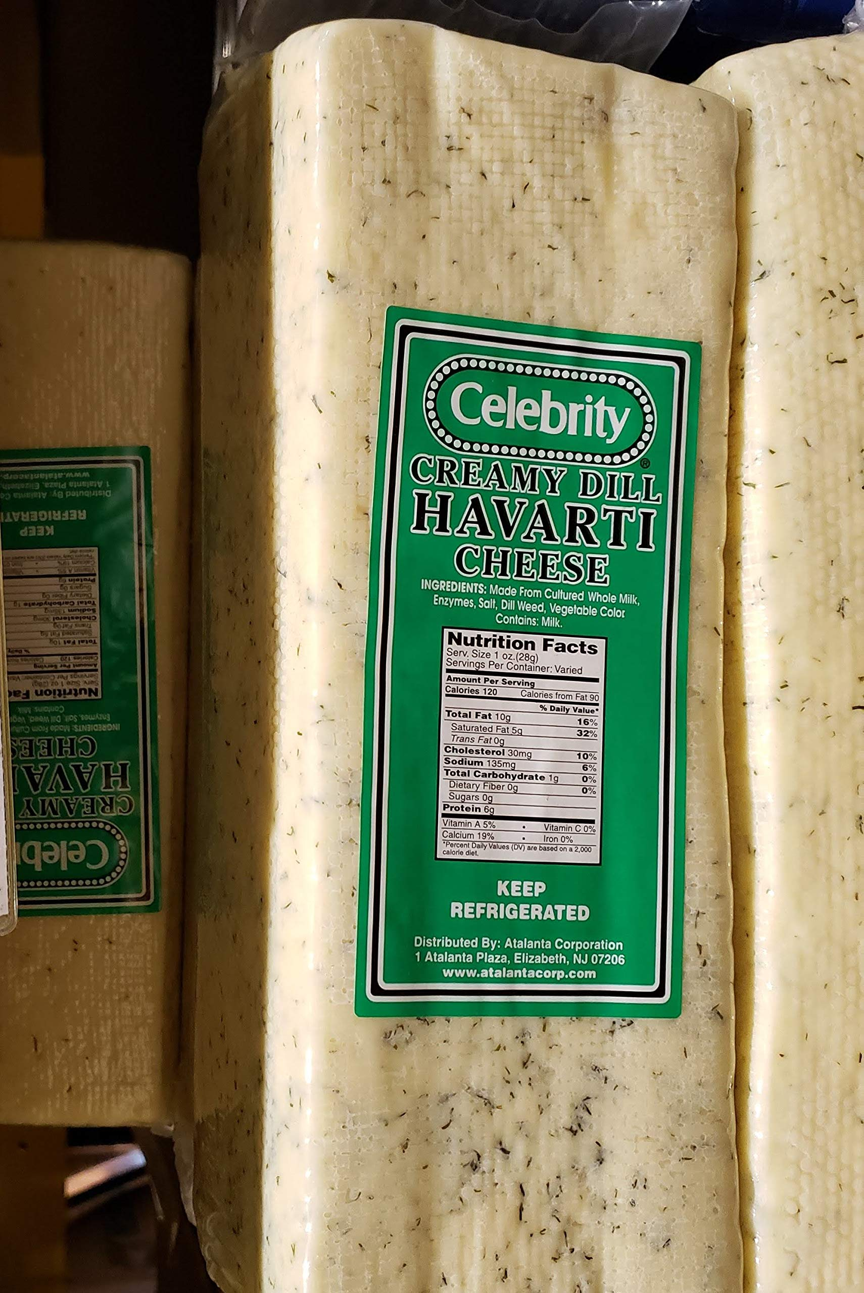 Celebrity Creamy Dill Havarti Cheese ~8 lbs to 8.5 lb