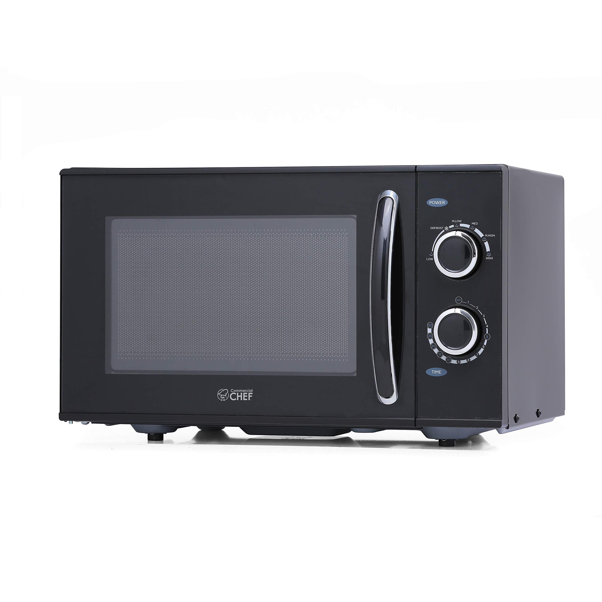 Commercial Chef CHMH900B6C 0.9 Cubic Foot Countertop Microwave, Compact, Rotary Control, Black by Commercial CHEF