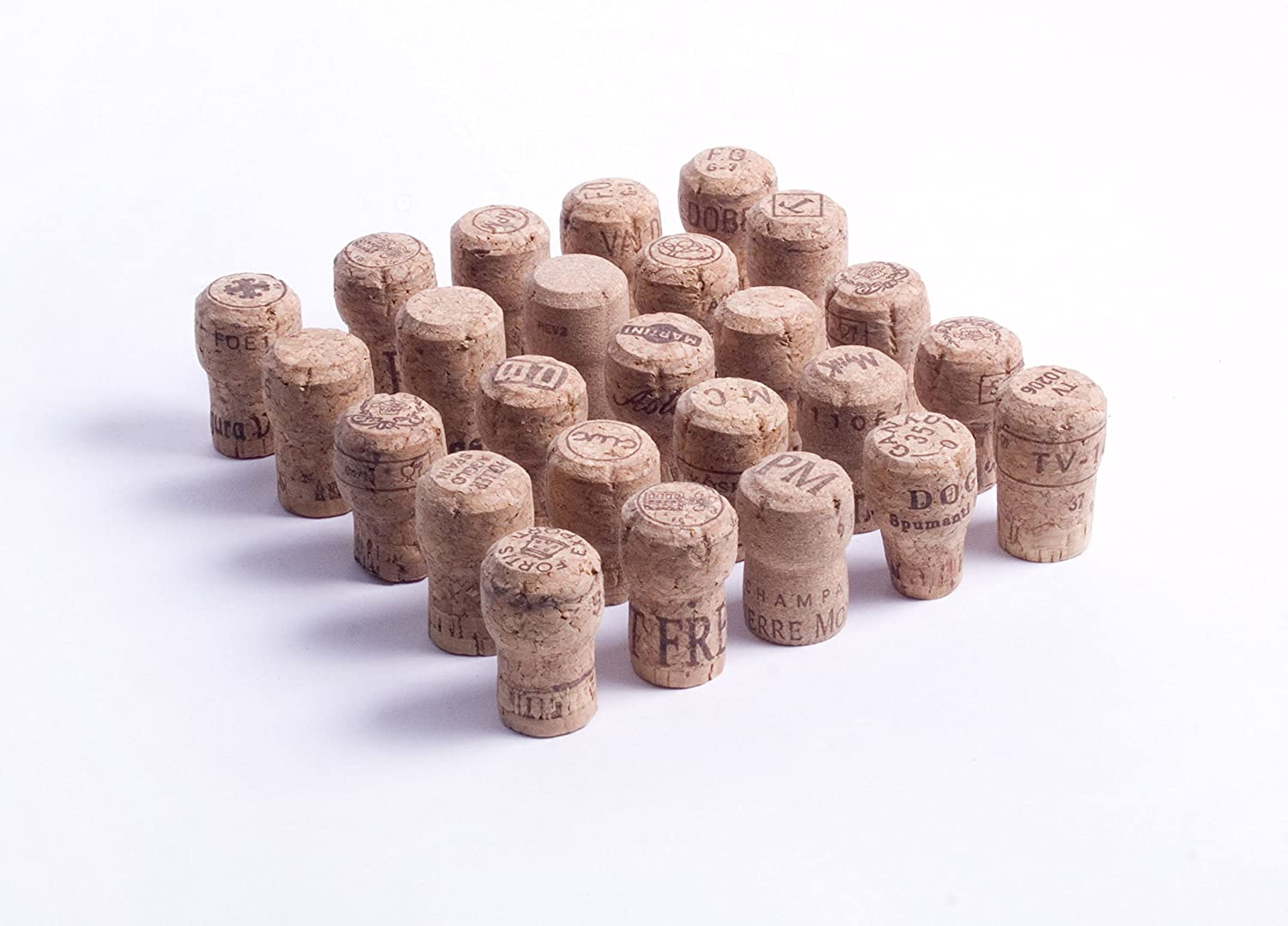 Assorted Used Real Sparkling Wine Corks for Upcycle Crafts - 25pc Jelinek Cork Group
