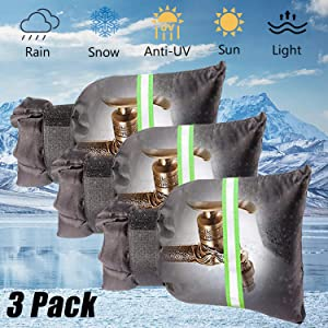 3 PCS Outdoor Faucet Covers with Reflective Strips for Winter Garden Faucet Socks for Faucet Anti Freeze Protection (Black)