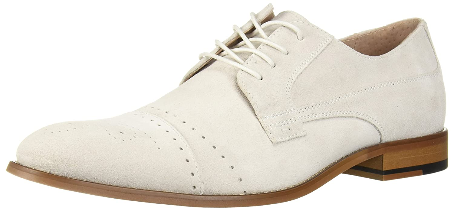 Men's 1950s Shoes Styles- Classics to Saddles to Rockabilly Stacy Adams Mens Deacon Cap Toe Oxford £186.68 AT vintagedancer.com