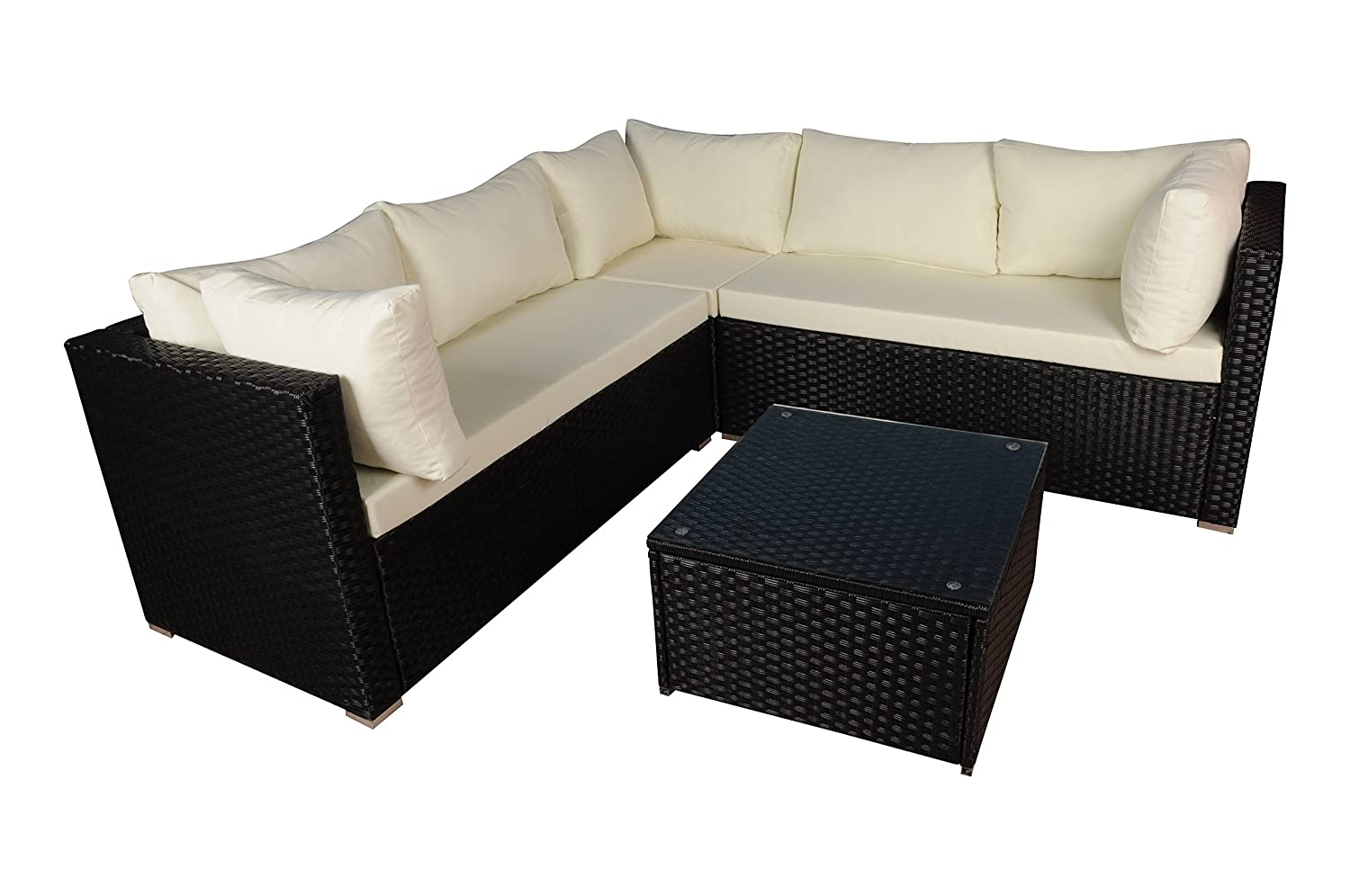 Amazon.com : Modern Outdoor Garden, Sectional Sofa Set with ...