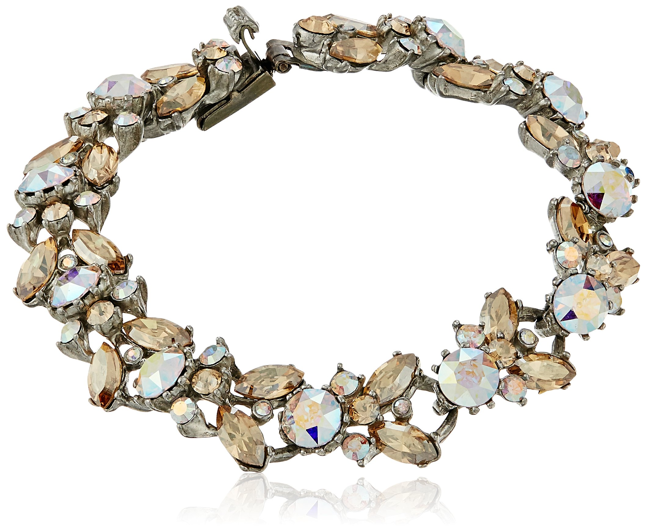 Ben-Amun Jewelry Swarovski Crystal Amore Roman Bracelet for Bridal Wedding Anniversary