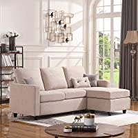 Honbay Convertible Sectional L-Shaped Couch
