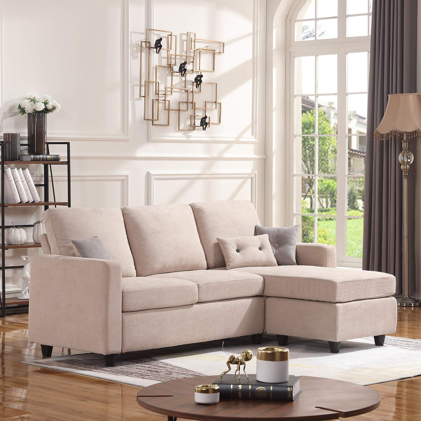 Small Furniture Store: HONBAY Convertible Sectional Sofa Couch, L-Shaped Couch