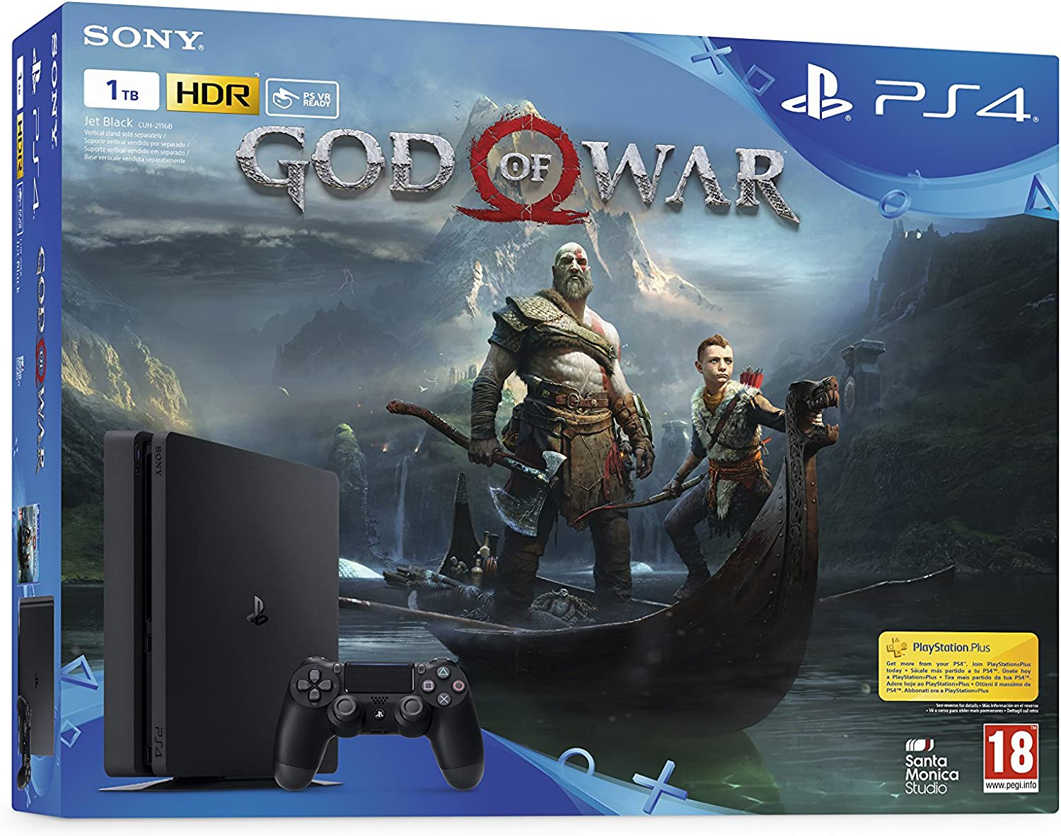 PlayStation 4 (PS4) - Consola de 1 TB + God of War: Amazon.es: Videojuegos