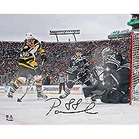 "$69 » David Pastrnak Boston Bruins Autographed 8"" x 10"" 2019 Winter Classic Goal Photograph - Fanatics Authentic Certified"