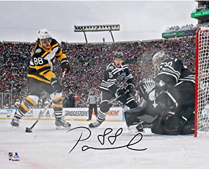 Image Unavailable. Image not available for. Color  David Pastrnak Boston  Bruins Autographed 8 quot  x 10 quot  2019 Winter Classic ... e35151b1a