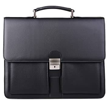 773bdd3a1e Amazon.com | Jack&Chris Mens New PU Leather Briefcase Messenger Bag Laptop  Bag, MBYX015 (Black) | Briefcases