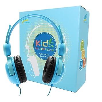 Fanxieast - Auriculares de Diadema con Cable y micrófono para Niños