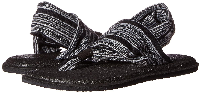 Sanuk Damen Yoga Sling#2 Zehentrenner, schwarz/Weiß schwarz/Weiß Zehentrenner, jersey 65384c