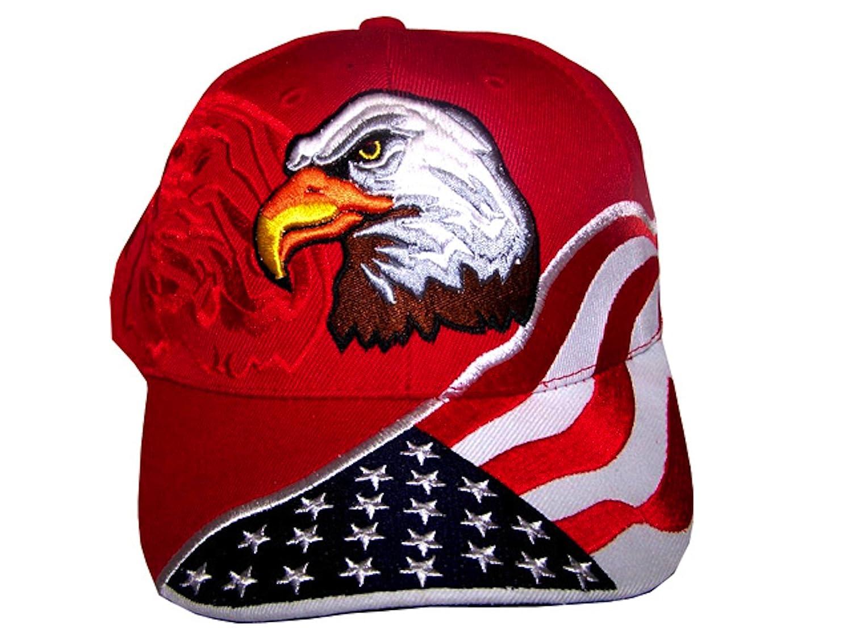 b9b5f804479 Amazon.com   American Flag Hat - USA Eagle Baseball Cap with 100 ...