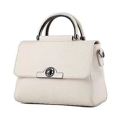 62f0d8e8c116e HeHe Damen PU Leder Handtaschen Damen Henkeltaschen Elegante Umhängetasche  für Damen weibliche Schultertasche - Cremeweiß