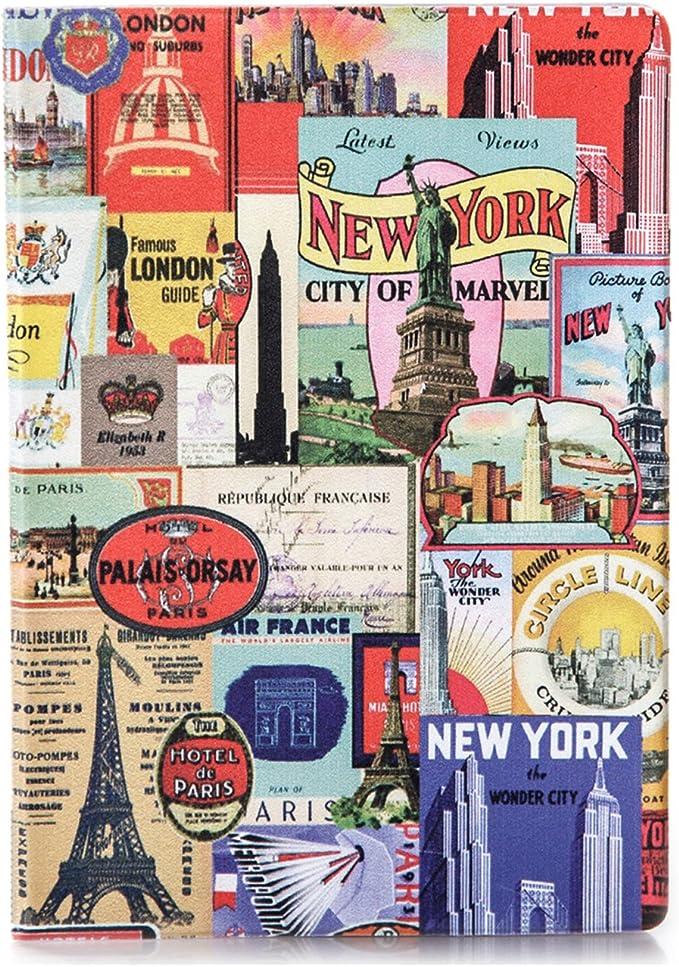 JETLAGGER Etui Passeport Original et Fin en Vinyle Capitales