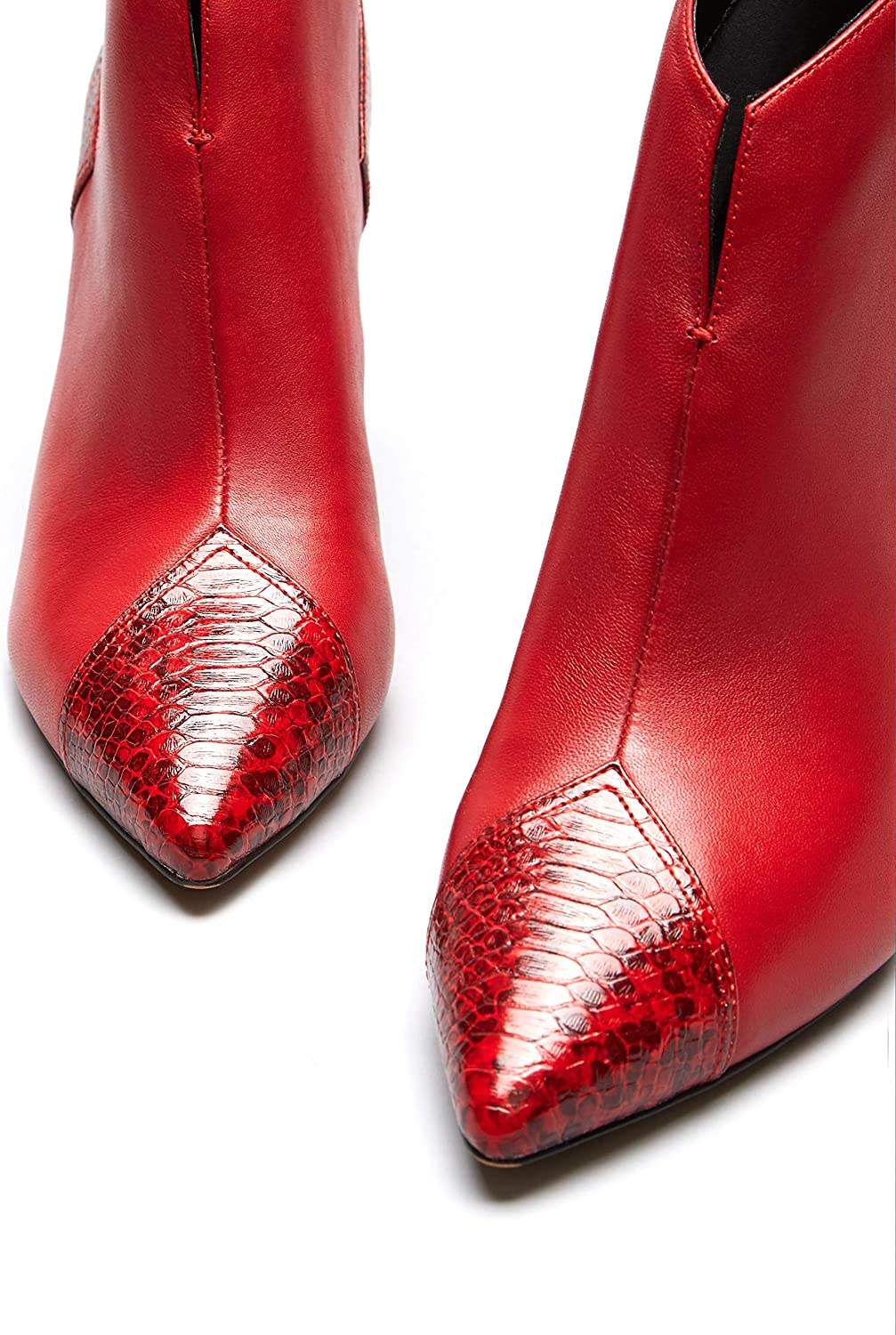 Marca Amazon - find. Mujer Botines Rojo Red NXMLF