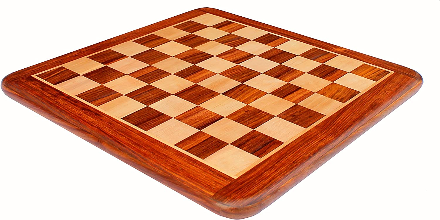 """15/"""" PREMIUM HANDMADE SOLID INLAID WOODEN CHESS SET WITH BRASS /& METAL PIECES"""
