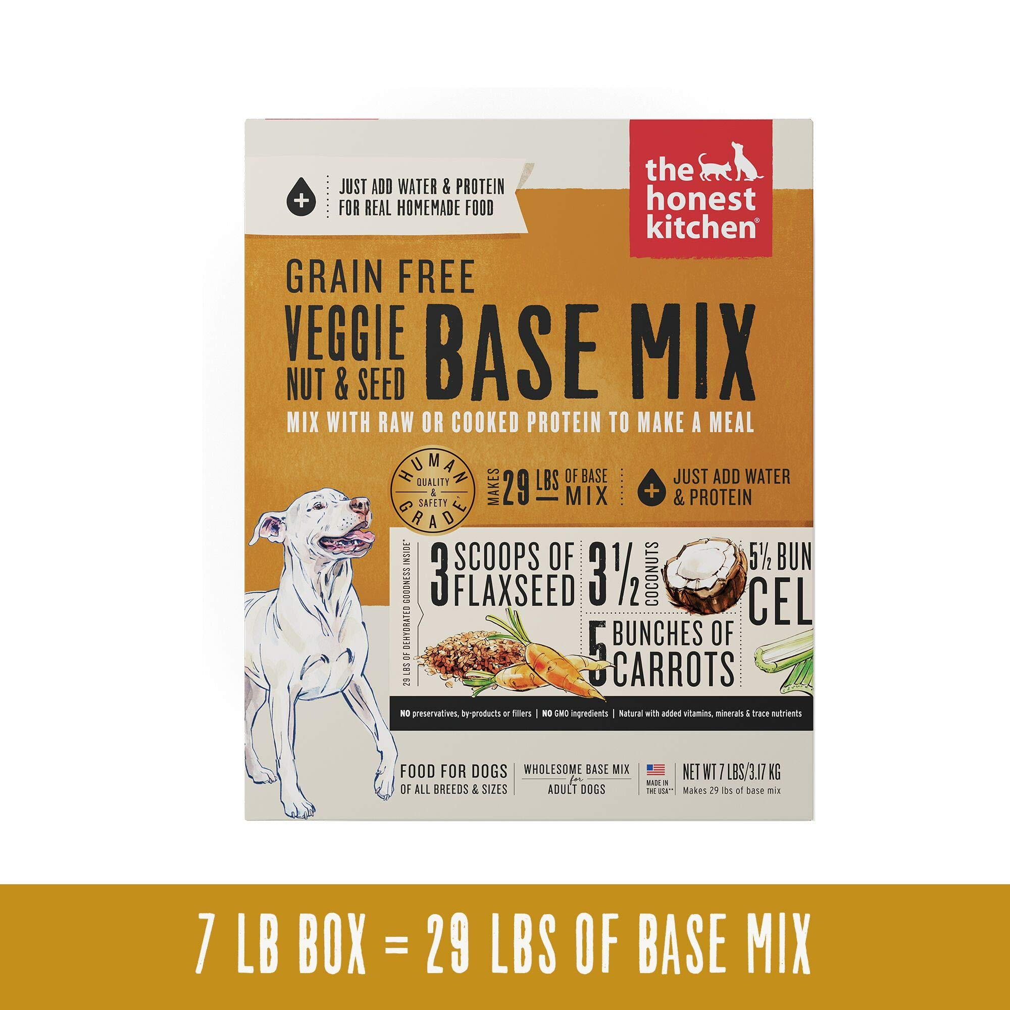 The Honest Kitchen Grain Free Veggie, Nut & Seed Base Mix Recipe for Dogs, 7lb box by Honest Kitchen