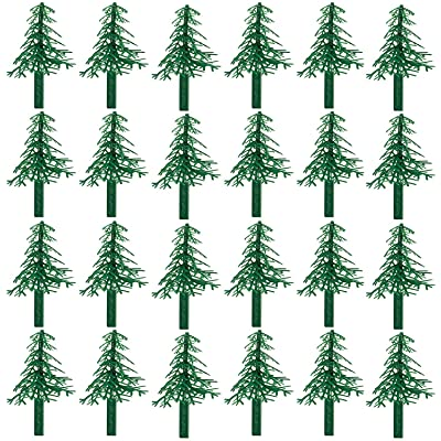 Evergreen Trees for Cake and Cupcake Decorating (24-Pack): Toys & Games