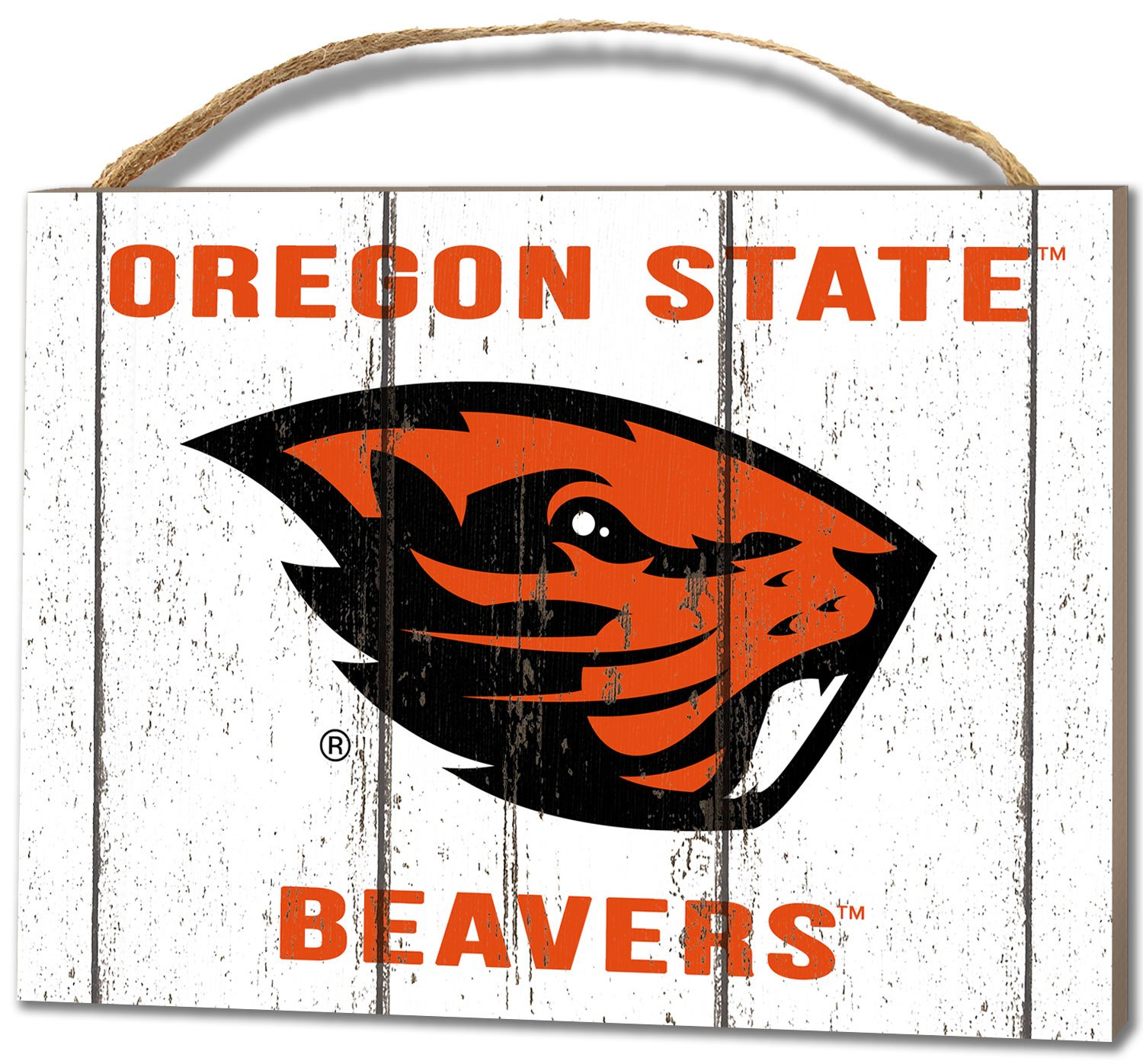 KH Sports Fan 4''X5.5'' Oregon State Beavers Weathered Logo Small College Plaque