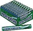 Mentos Spearmint Dragees   Geschmack Minze natürlich   Karton mit 40 Rollen Bonbons   Multipack für frischen Atem