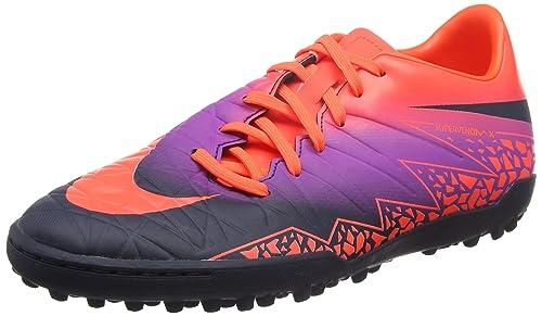 Nike Hypervenom Phelon Ii Tf, Men's Footbal Shoes, Multicolor (Total  Crimson/Obsidian