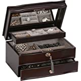 Mele & Co. Davina Wooden Jewelry Box, Ring, Necklace, and Earring Organizer