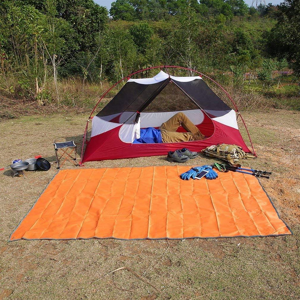 U-Homewee Camping Zelt Tarp Wasserdicht Zeltplane mit Tragetasche 180 * 220CM,Blau Outdoor Plane