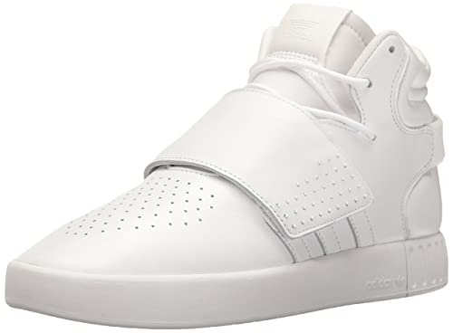 adidas Originals Men s Tubular Invader Strap Running Shoe, White, ... ee5cce16beef